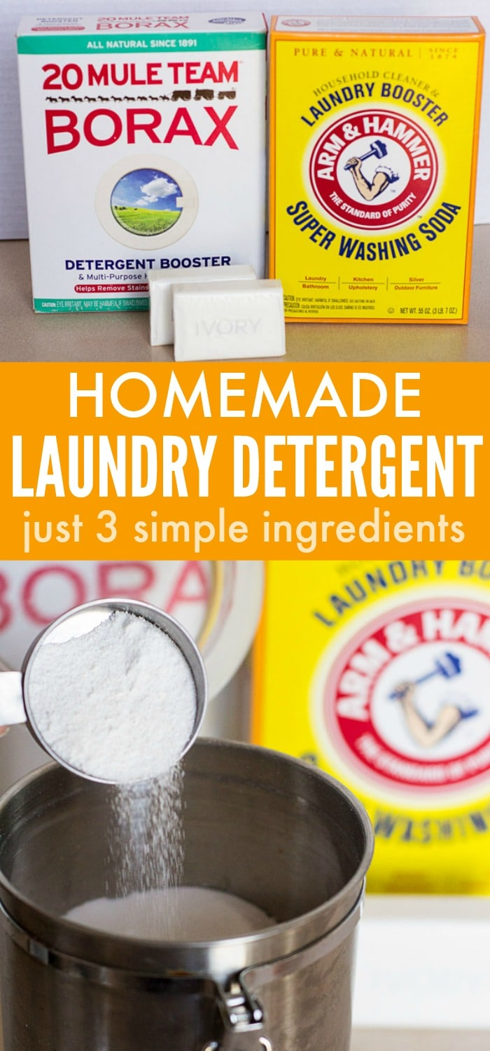 3 Ingredient Homemade Laundry Detergent