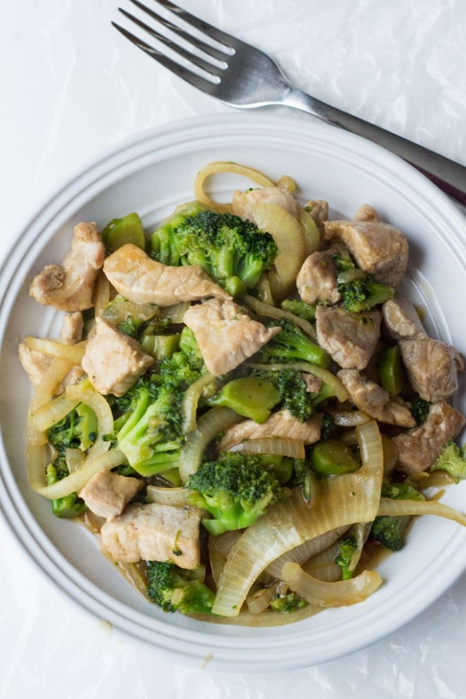 pork and broccoli stir fry low carb