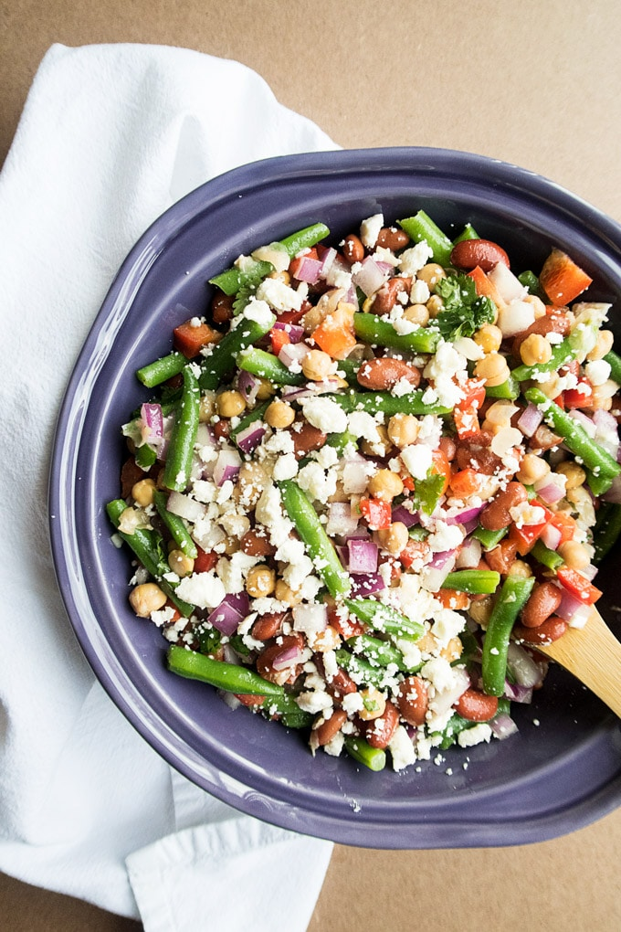 Lighter Three Bean Salad Recipe