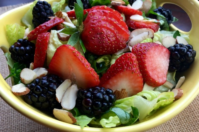 Berry Salad with seasonal berries