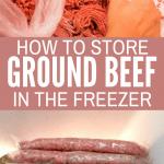 Storing ground beef in freezer bags