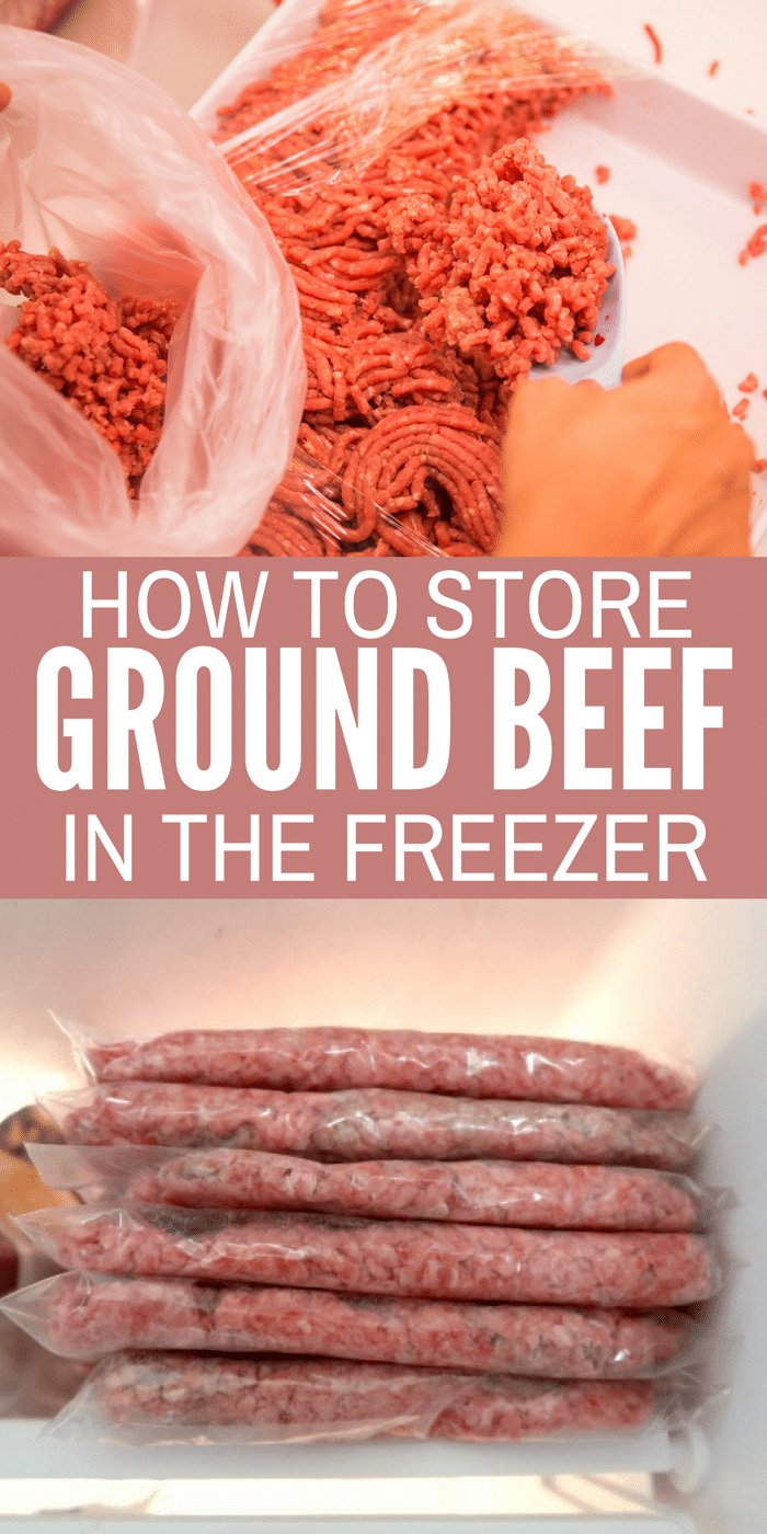 Storing ground beef in freezer bags