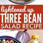 Light Three Bean Salad Recipe pin
