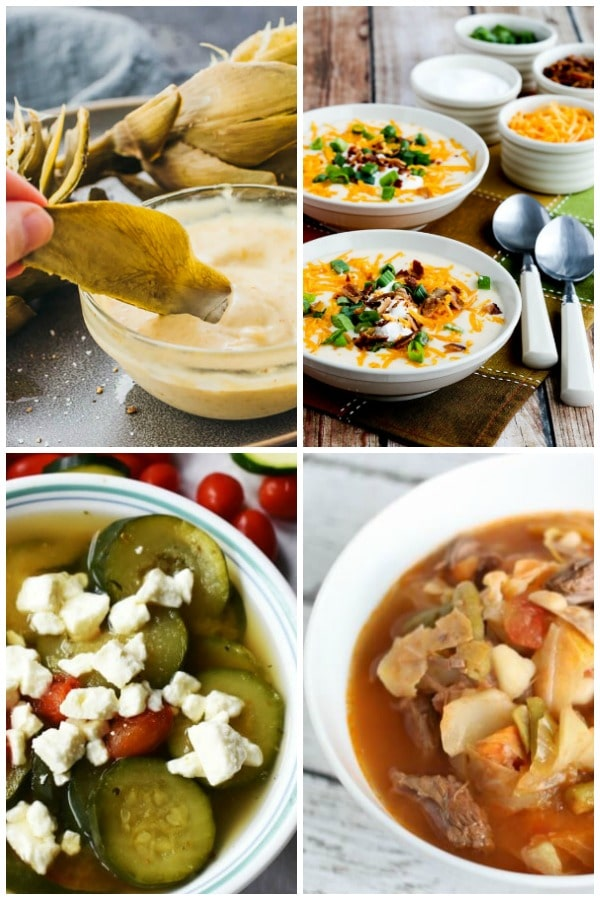 instant pot artichokes, instant pot cauliflower soup, instant pot zucchini and tomato soup, instant pot cabbage soup