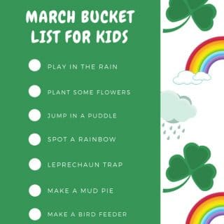 March Bucket List for Kids