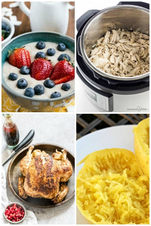 instant pot porridge, instant pot shredded chicken, instant pot whole chicken, instant pot spaghetti squash