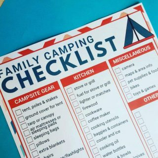 Family Camping Checklist Free Printable