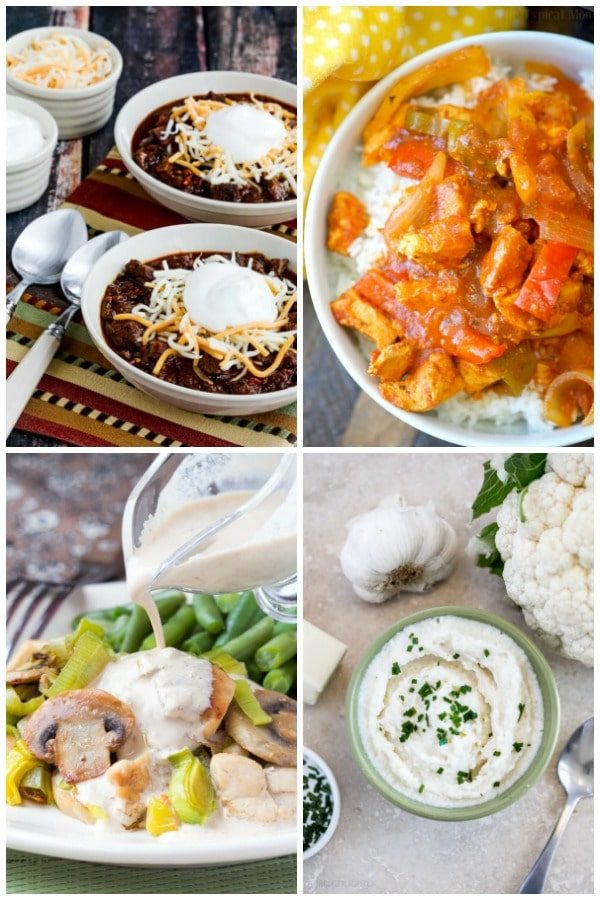 collage of Instant Pot Low Carb Recipes