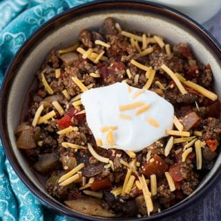 Easy Beef and Mushroom Low Carb Chili