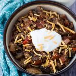 Beef and Mushroom Low Carb Chili Recipe