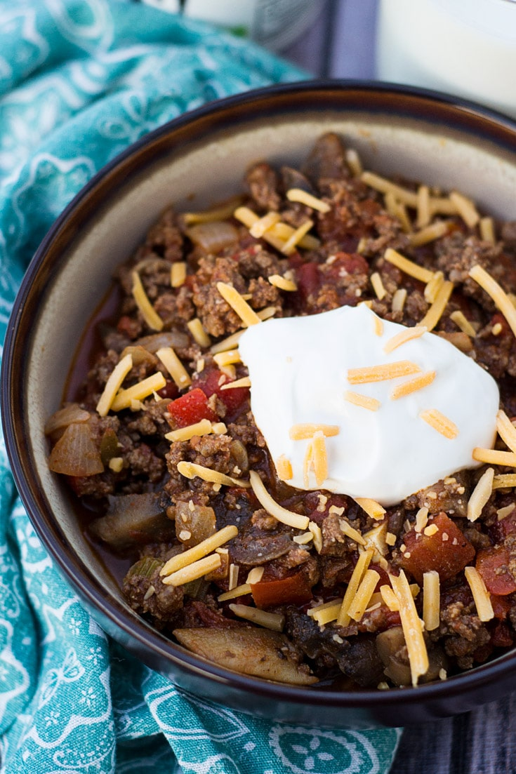 Mushroom and Beef Low Carb Chili