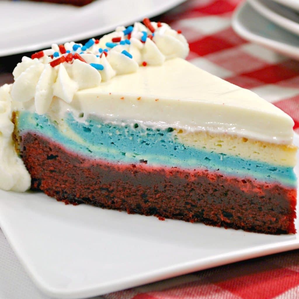 Red White and Blue Cheesecake – Patriotic Dessert Idea