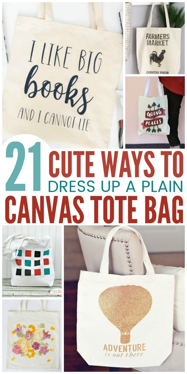 21 Cute Ways to Dress Up Plain Canvas Tote Bags