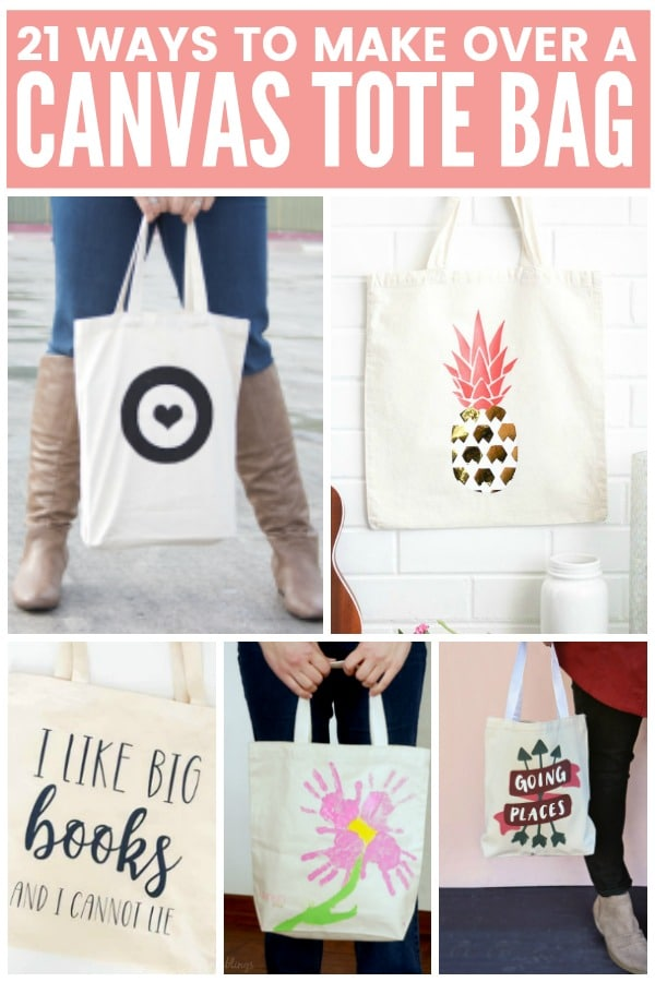 21 Ways to Make Over a Canvas Tote Bag