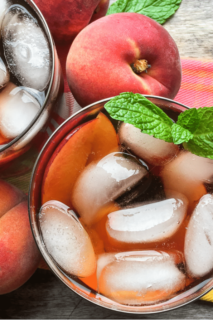Delicious Peach Ginger Instant Pot Iced Tea