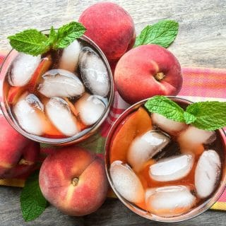 Ginger Peach Instant Pot Iced Tea