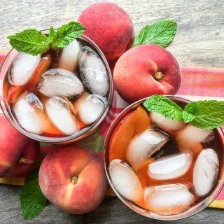 Ginger Peach Instant Pot Iced Tea
