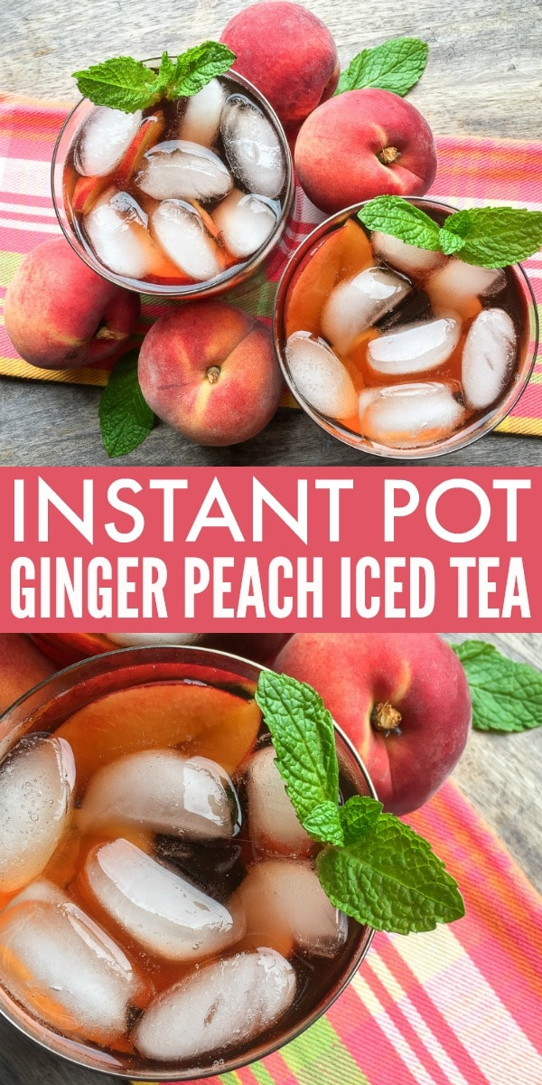 Beat the heat this summer with our delicious Ginger Peach Instant Pot Iced Tea!