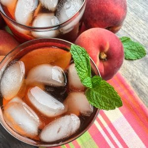 Summertime Ginger Peach Iced Tea