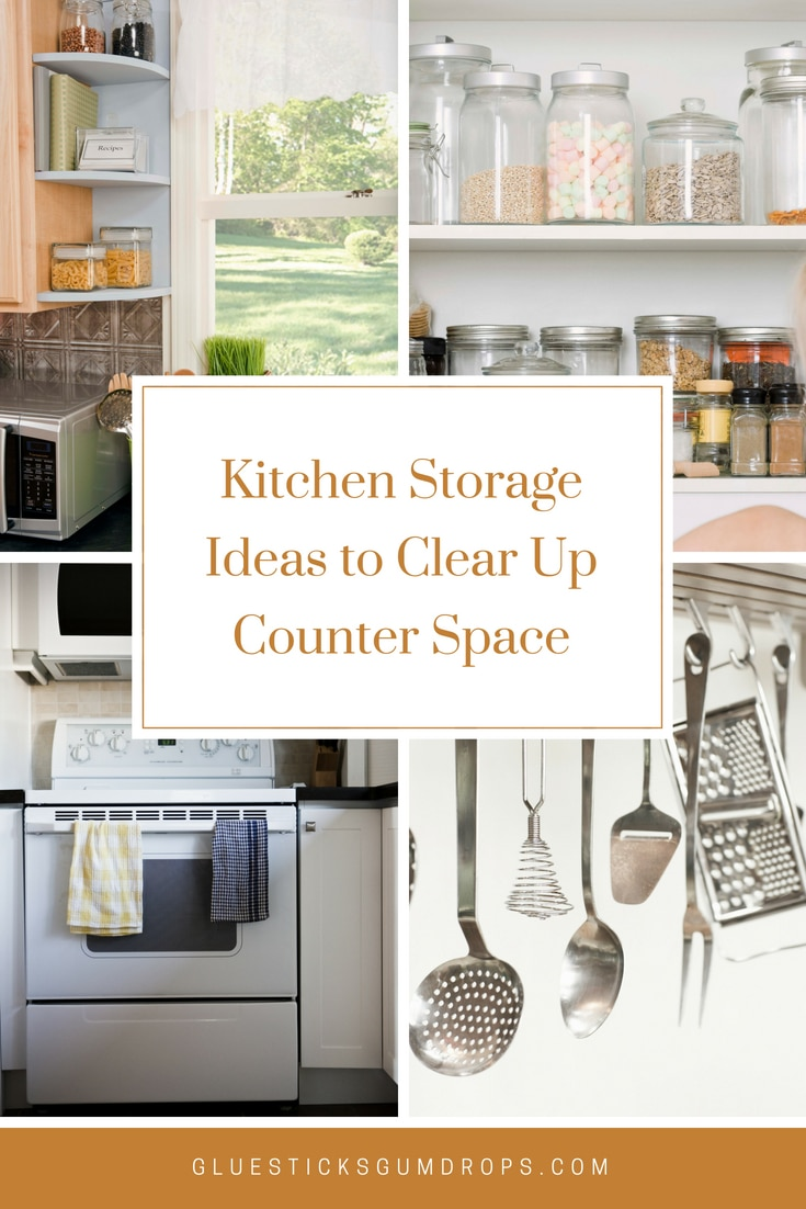 6 Practical Kitchen Storage Ideas to Clear Up Counter Space on