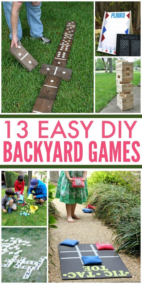13 DIY Backyard Games to Entertain the Family