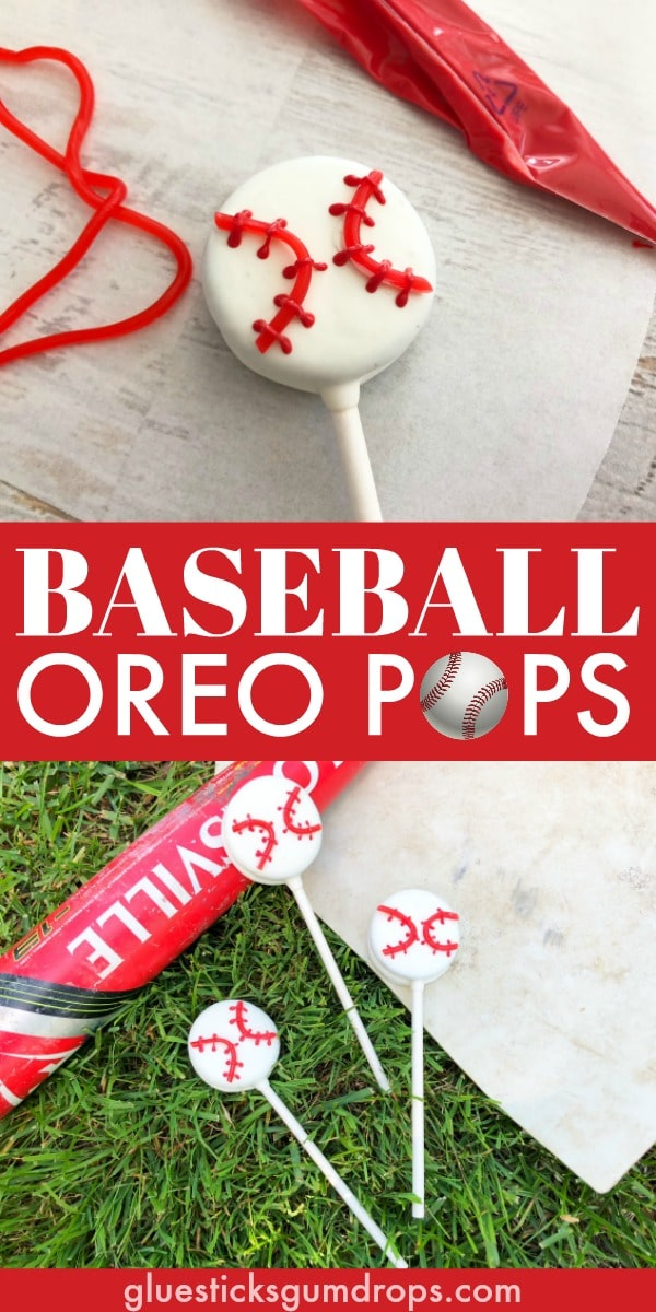 Baseball Oreo Pops - Cute Baseball Snack Idea for the Team!