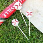 Cute Baseball Snack Idea - Baseball Oreo Pops