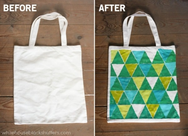 color blocked triangle tote