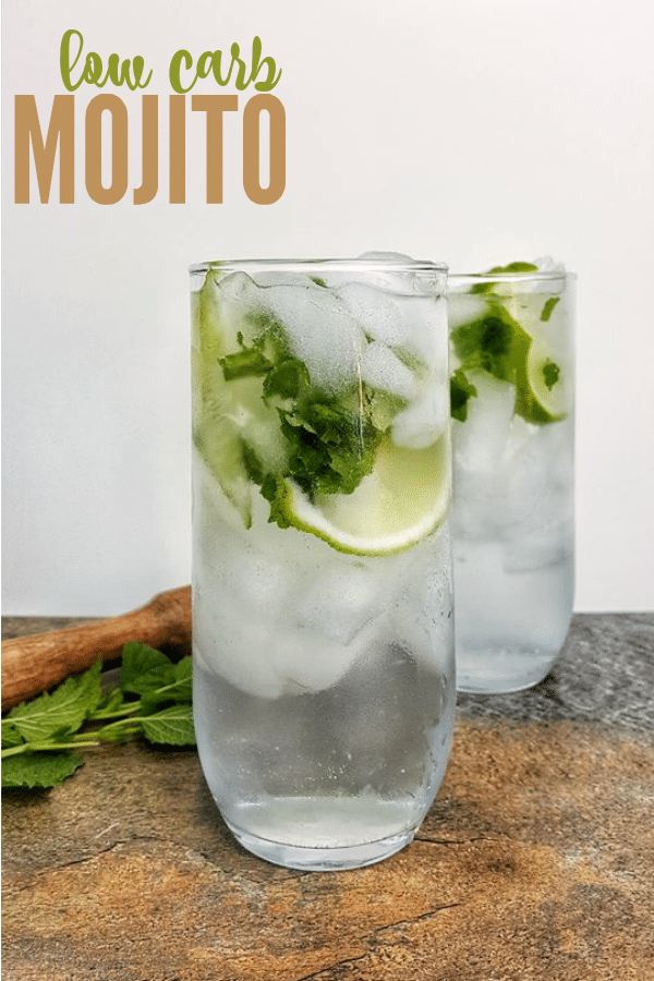 Low Carb Mojito with a Zero Net Carb Simple Syrup