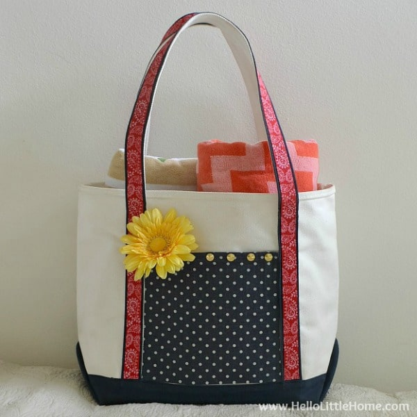 no sew tote bag makeover