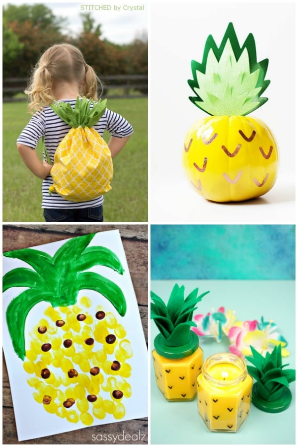 Pineapple Crafts for Kids and Adults