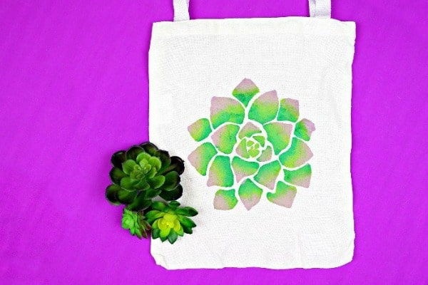 plush succulent tote bag