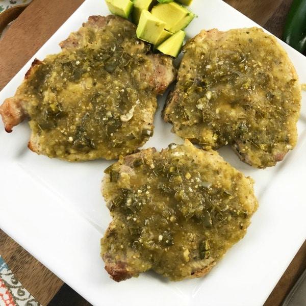 Low Carb Salsa Verde Pork Chops