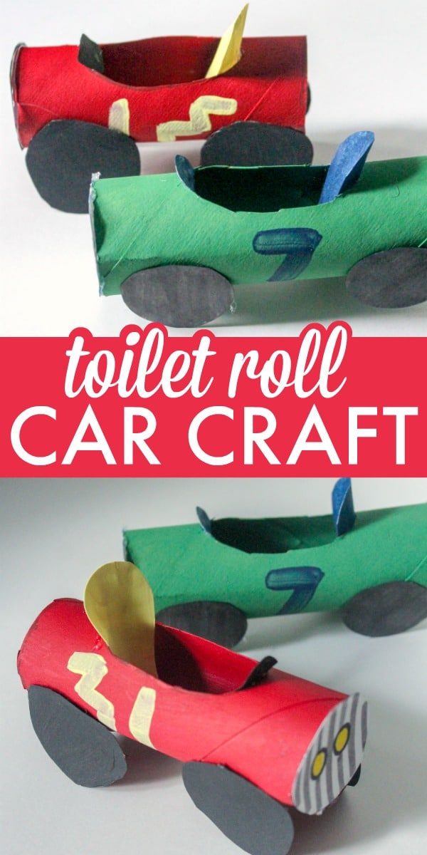 Cute and Creative Toilet Roll Car Craft for Kids