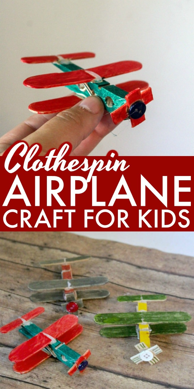 Fun and Creative Clothespin Airplane Craft for Kids