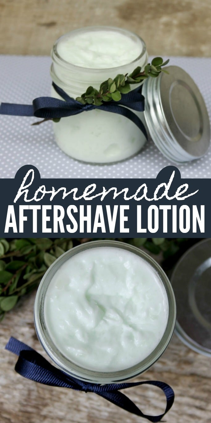 Homemade Aftershave Lotion Tutorial and Recipe