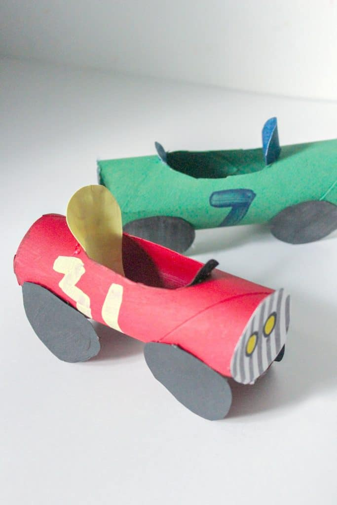 Car Craft for Kids Made with Toilet Paper Rolls