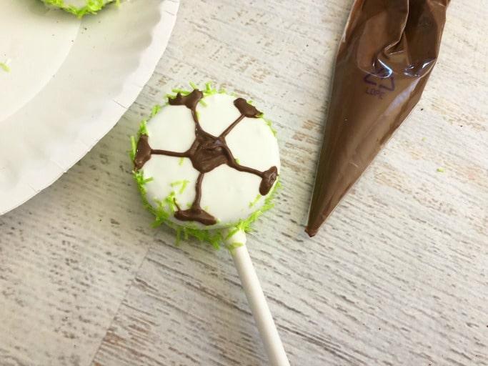 cute soccer oreo pops
