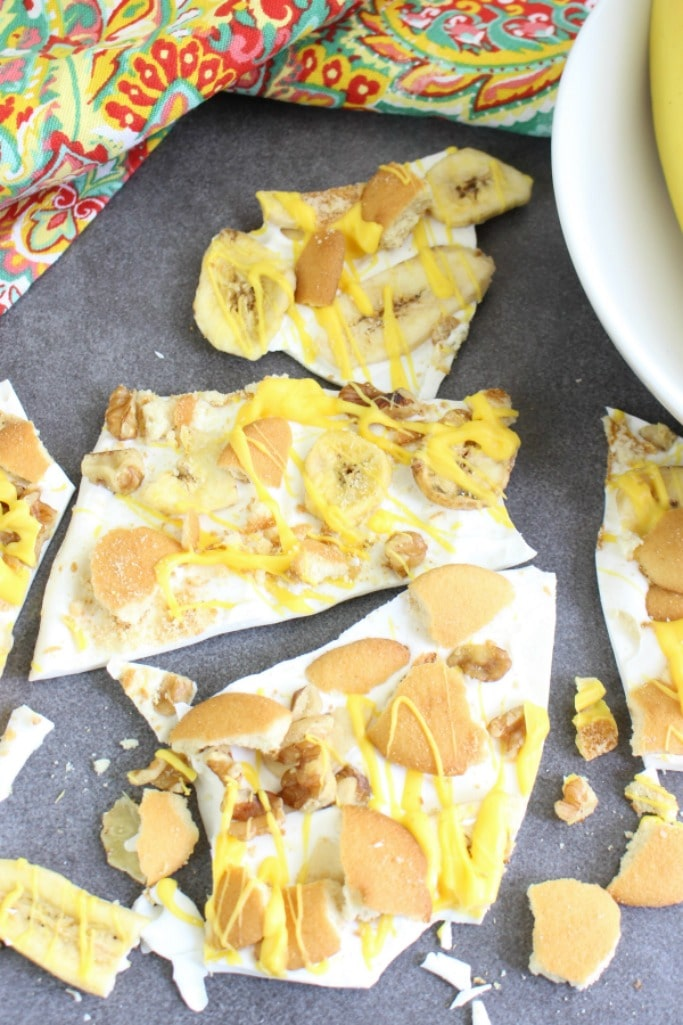 easy banana pudding bark