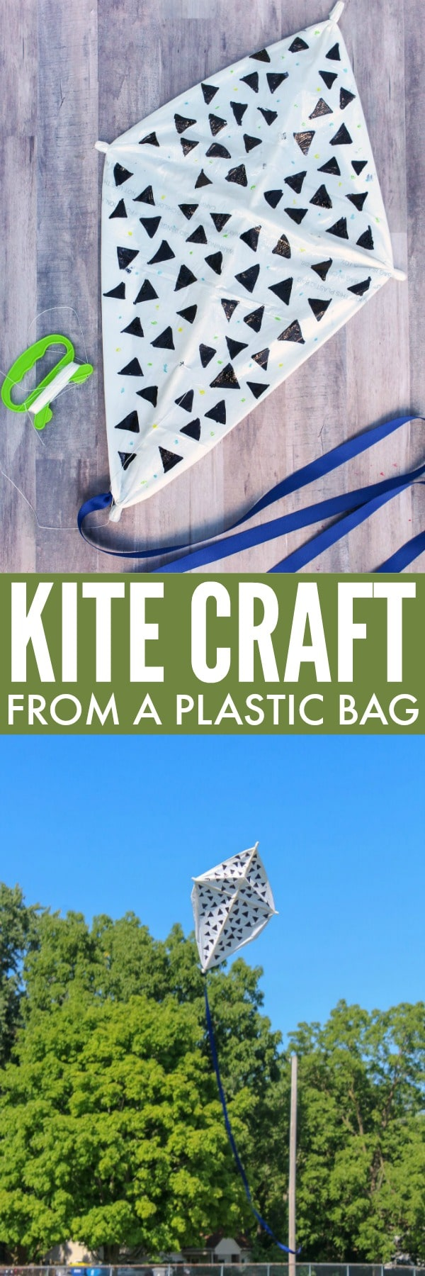 Fun Craft and Activity for Summer: Kite Craft from a Trash Bag!