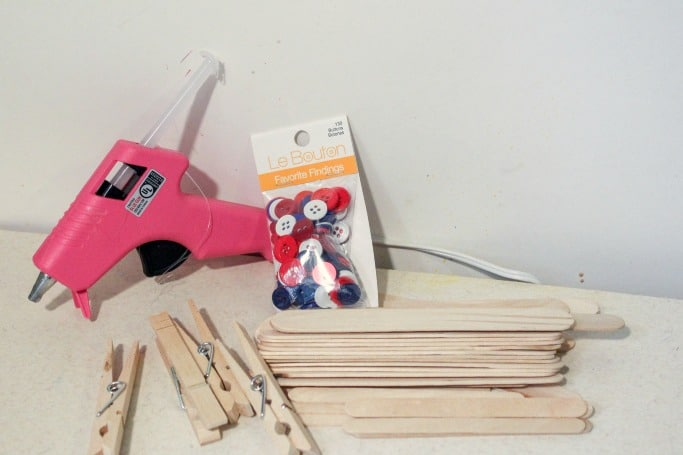 materials for clothespin airplane craft