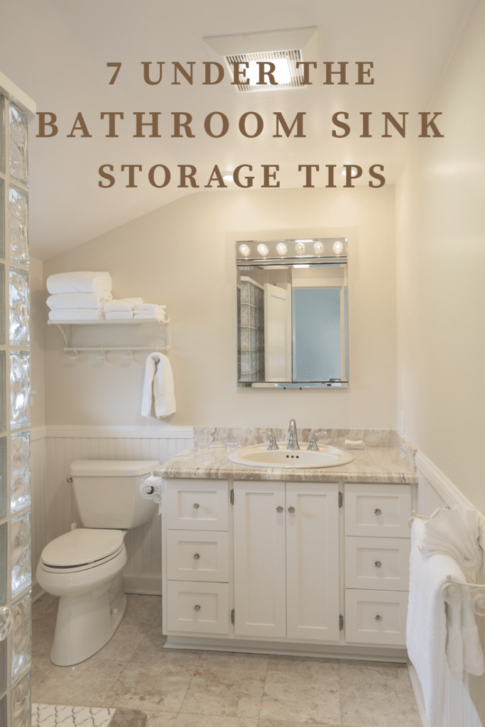 Make the most of the space in your small bathroom with these 7 practical under bathroom sink storage ideas and organization tips!