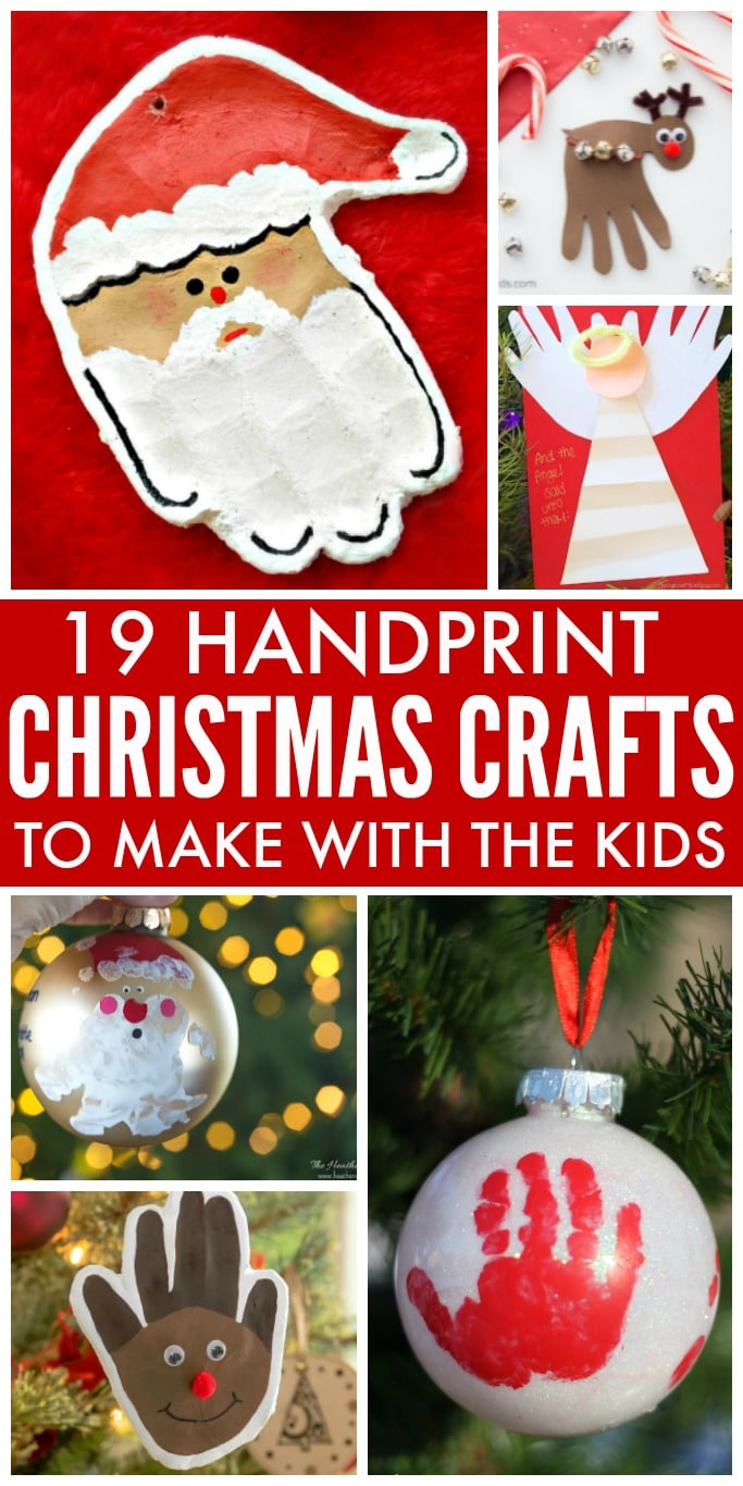 19 Handprint Christmas Crafts to Make with the Kids