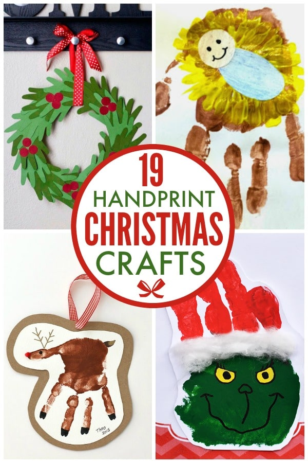 19 Handprint Christmas Crafts
