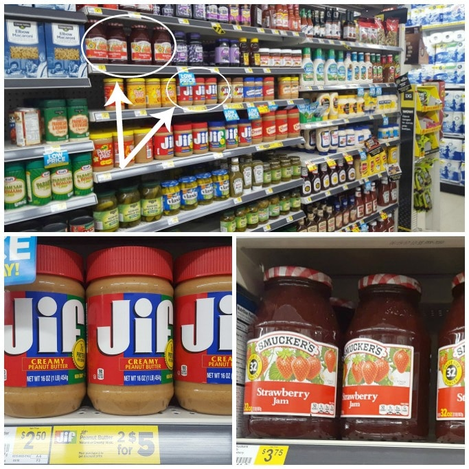 Jif Creamy Peanut Butter and Smucker's Strawberry Jam at Dollar General