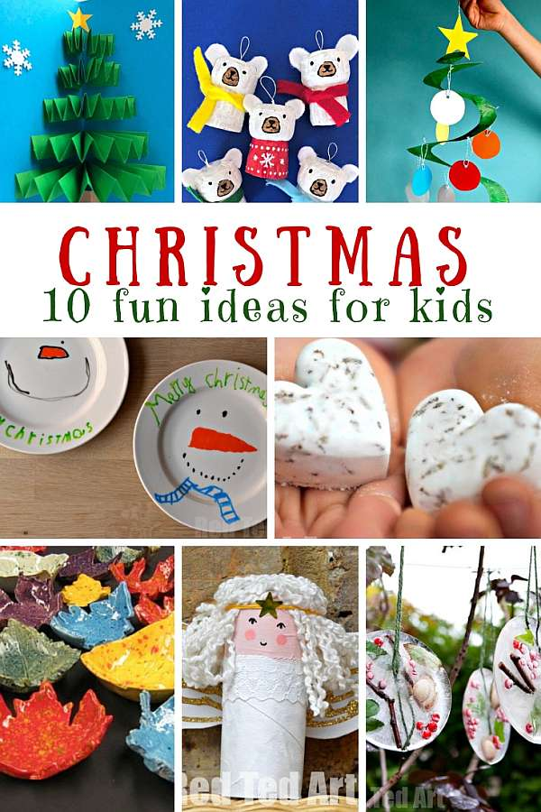 18 - Fun Kids' Ideas for Christmas - easy crafts kids can make to decorate, give as gifts, and more!