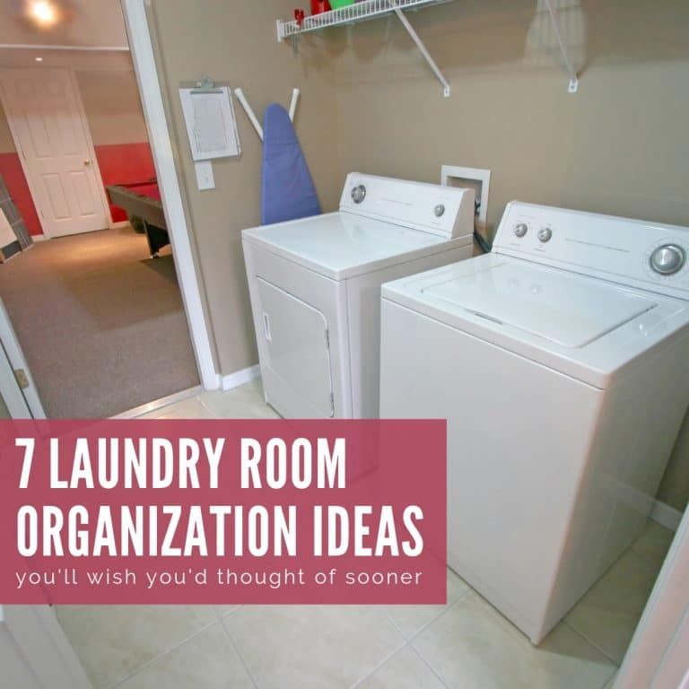 Simple Laundry Room Organization Ideas