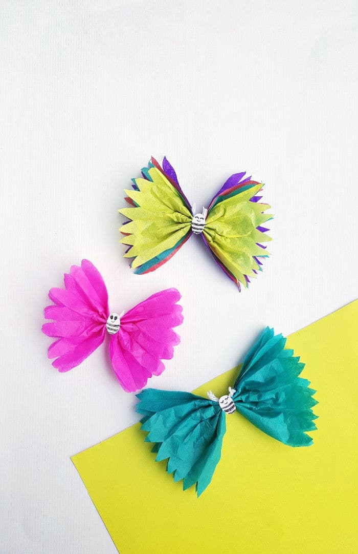 Tissue Paper Butterfly Craft for Kids