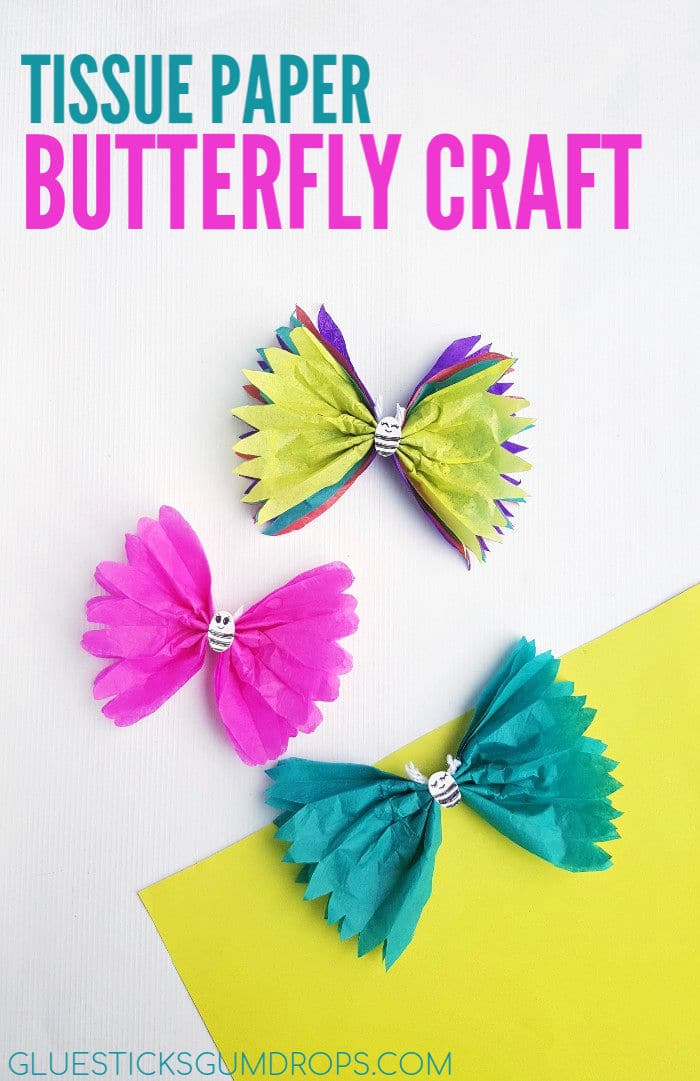 Fun Tissue Paper Butterfly Craft
