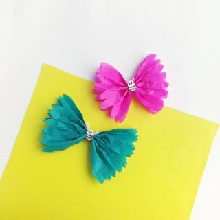 Cute Tissue Paper Butterfly Craft